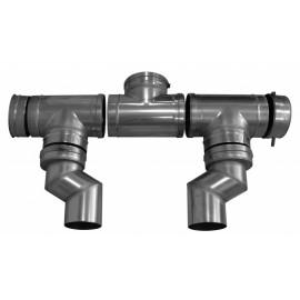 Дымоотв. комплект для 2-х котлов в каскаде диам. 250 мм, HT Baxi (LXO00069144)